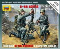 Zvezda German 81-mm Mortar with crew makett