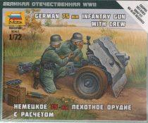 Zvezda German 75-mm Infantry Gun makett