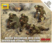 Zvezda British Machine Gun w/crew 39-42