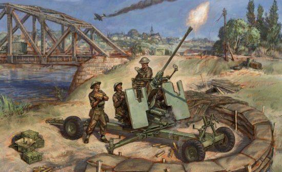 Zvezda British Bofors 40mm Mk-2 AA-Gun makett