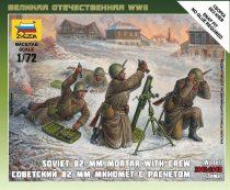Zvezda Soviet 82 mm Mortar w/Crew