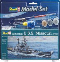 Revell Model Set Battleship U.S.S. Missouri(WWII) makett