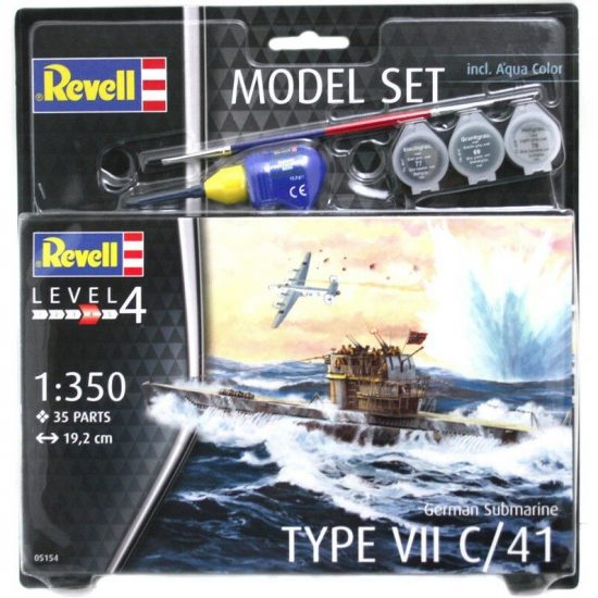 Revell Model Set German Submarine Type VII C/41 makett