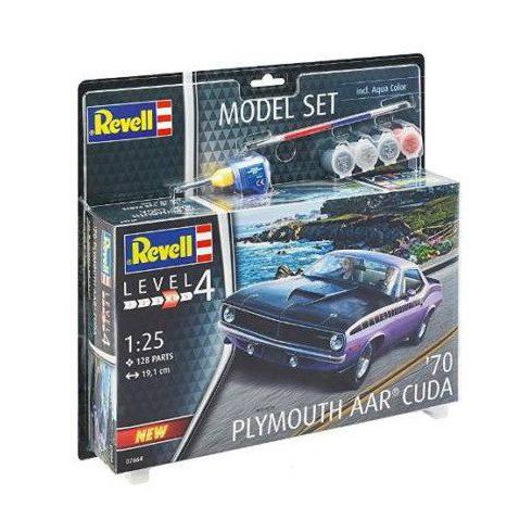 Revell Model Set 1970 Plymouth AAR Cuda makett
