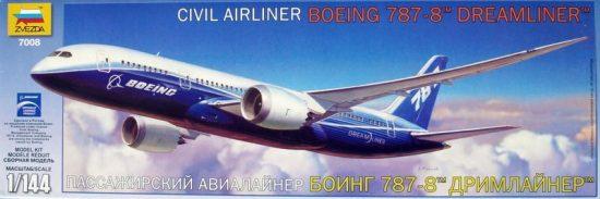 Zvezda Boeing 787 Dreamliner makett