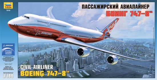 Zvezda Boeing 747-8 makett