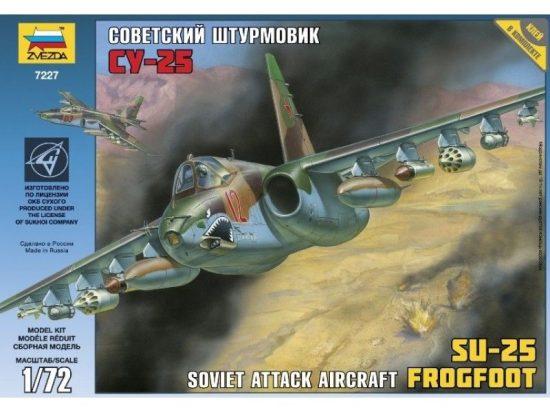 Zvezda Soviet Attack Aircraft SU-25 Frogfoot makett