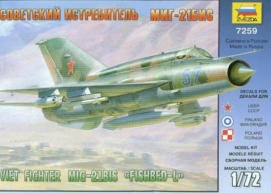 Zvezda MiG-21bis Soviet Fighter makett