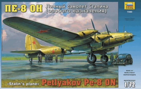 Zvezda Petlyakov Pe-8 ON Stalin's Plane makett