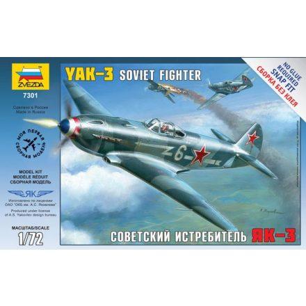 Zvezda Airplanes Yak-3 Soviet Fighter makett