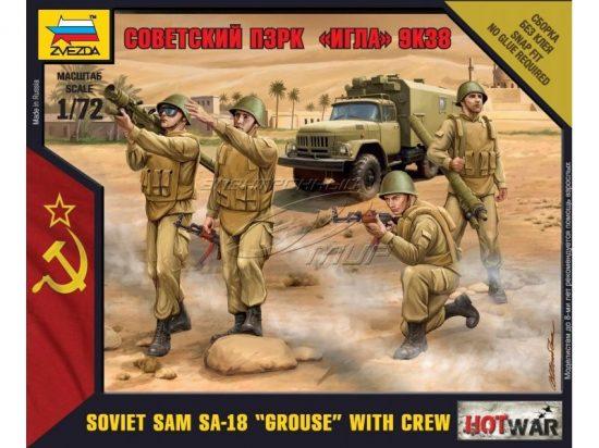 Zvezda Soviet Sam SA-18 Grouse with Crew