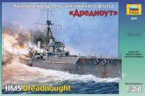 Zvezda British battleship HMS Dreadnought makett