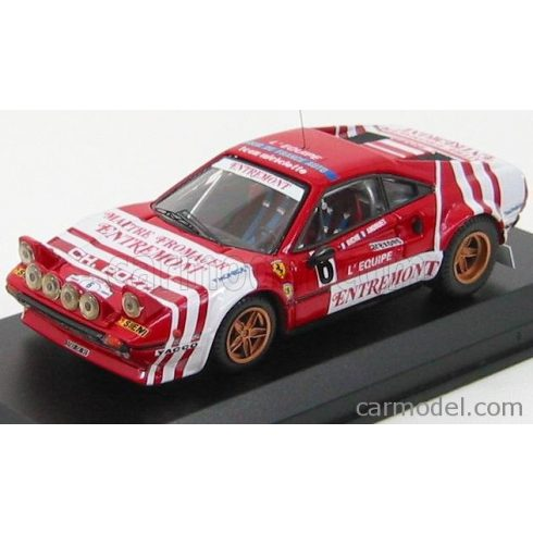 BEST MODEL FERRARI 308 GTB Gr.4 N 6 RALLY TOUR DE FRANCE 1981 ANDREUT - BICHE