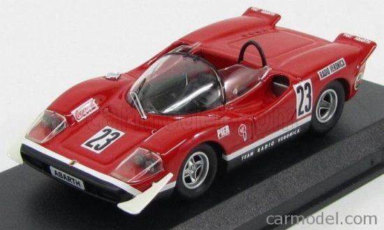 BEST MODEL FIAT ABARTH 2000S SPIDER TEAM RADIO VERONICA N 23 SILVERSTONE 1969 E.SWART