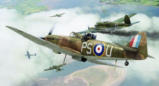 Airfix Boulton Paul Defiant makett