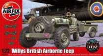 AirFix Willys British Airborne Jeep makett