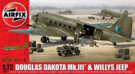 Airfix Douglas Dakota MkIII with Willys Jeep