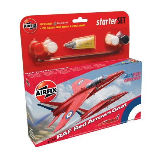 AirFix Red Arrow Gnat Starter Set makett