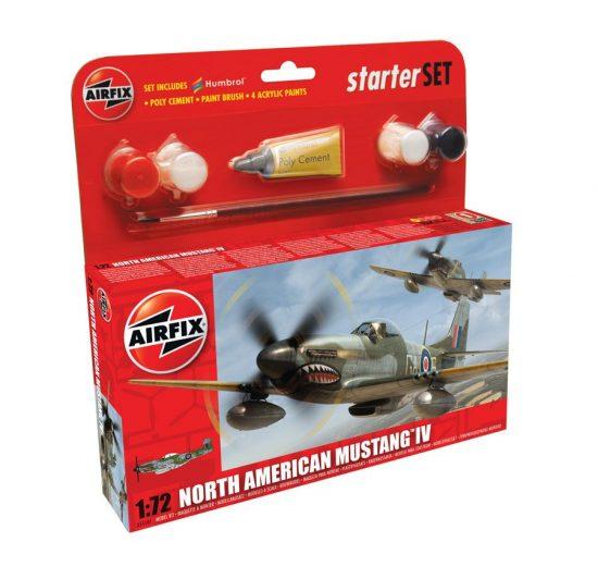AirFix North American Mustang IV Starter Set makett