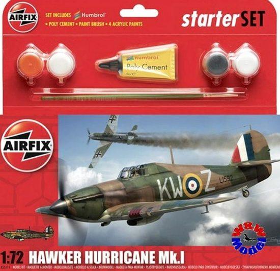 AirFix Hawker Hurricane MkI Starter Set makett