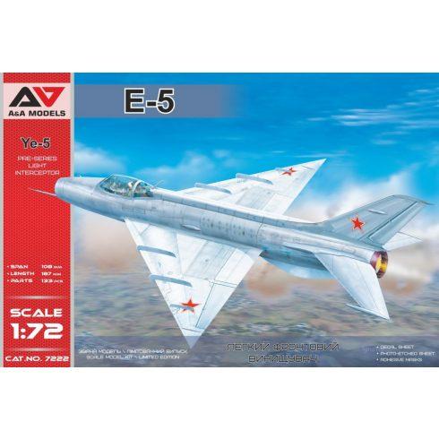 A&A Models Ye-5 pre-series intercepto makett