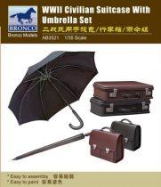 Bronco WWII Civilian Suitcase with Umbrella Set