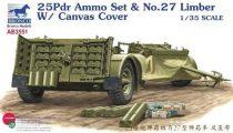 Bronco 25-pounder Field Gun Ammunition set & No.27 Limber