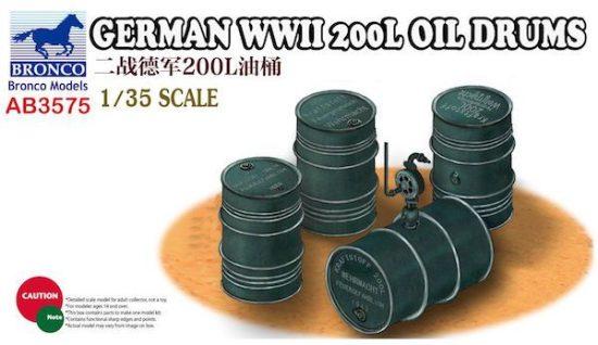 Bronco German WWII 200L Oil Drums