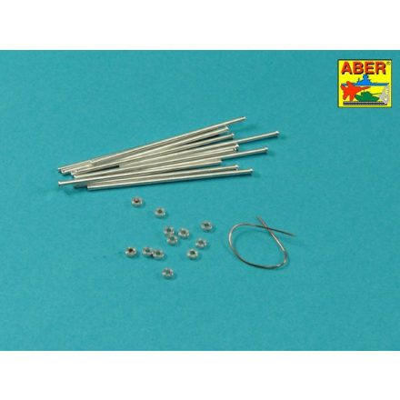 Aber German Medium Tank Panther Track Pins x12pc for Spare Tracks (Trumpeter)