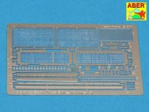 Aber Grilles for Russian tank T-55 also Israeli Tiran 5 (Tamiya)