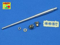 Aber German 7,5 cm gun barrel with muzzle brake for - Pak 40/3 - Marder III Ausf. M (Tamiya)