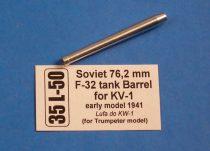 Aber Soviet 76,2 mm F-32 tank barrel for KV-1 early model (Trumpeter)