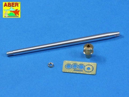 Aber U.S. 76 mm M1A2 barrel with muzzle brake for Sherman M4A3E8 tank (Tamiya)