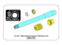 Aber German 150mm Barrel for E-100 Heavy Tank Krupp Turret (Trumpeter)