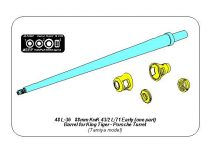 Aber 88mm 2A62 KwK 43/2 L/71 Early (one part) Barrel for King Tiger - Porsche Turret (Tamiya)