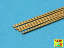 Aber Brass Round Rods dia 0,6mm, length 245mm