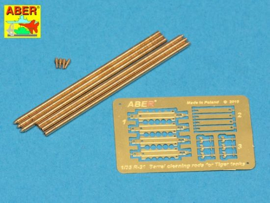 Aber German Barrel Cleaning Rods with Brackets for King Tiger