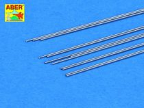 Aber Steel Round Rods dia 0.4mm length 245mm