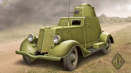 Ace Model BA-20 Light Armored Car late makett