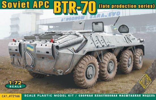 Ace Model BTR-70 Soviet armored personnel carrier late makett