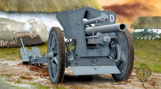 Ace Model German le FH18 10,5 cm Field Howitzer makett