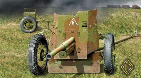 Ace Model Soviet 45mm AT Gun Model 1937 makett