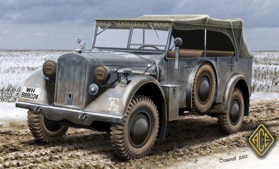Ace Model Kfz.15 Uniform Chassis Medium Vehicle makett