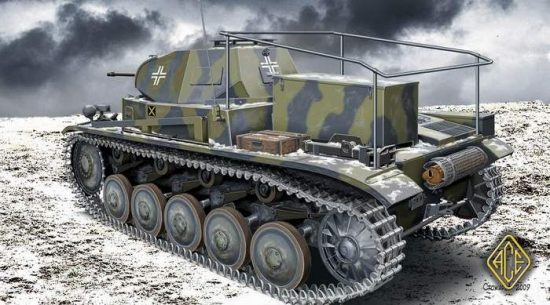 Ace Model PzBeoWg II Artillery Observation Vehicle makett