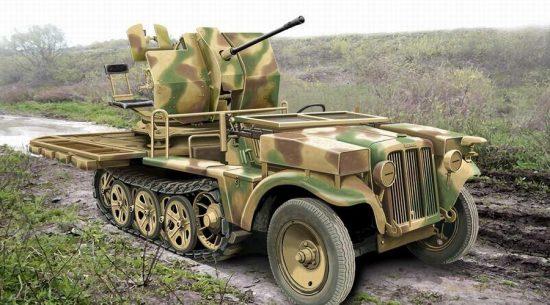 Ace Model 2cm Flak 38 sfl SdKfz.10/4 makett