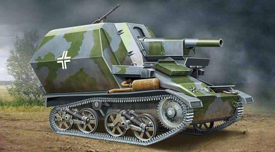 Ace Model 10,5cm leFH-16 Sfl.Auf Geschuetzpanzer M makett