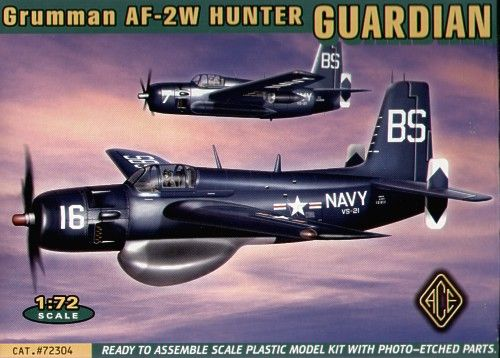 Ace Model Grumman AF-2W Guardian makett