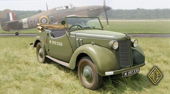 Ace Model British Staf car 8hp Tourer makett