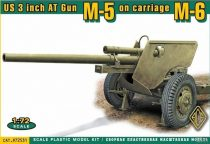 Ace Model US 3 inch Anti-tank gun M5 on carriage M6 late version makett