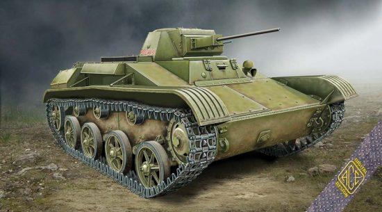 Ace Model T-60 Soviet Light Tank 1942 makett